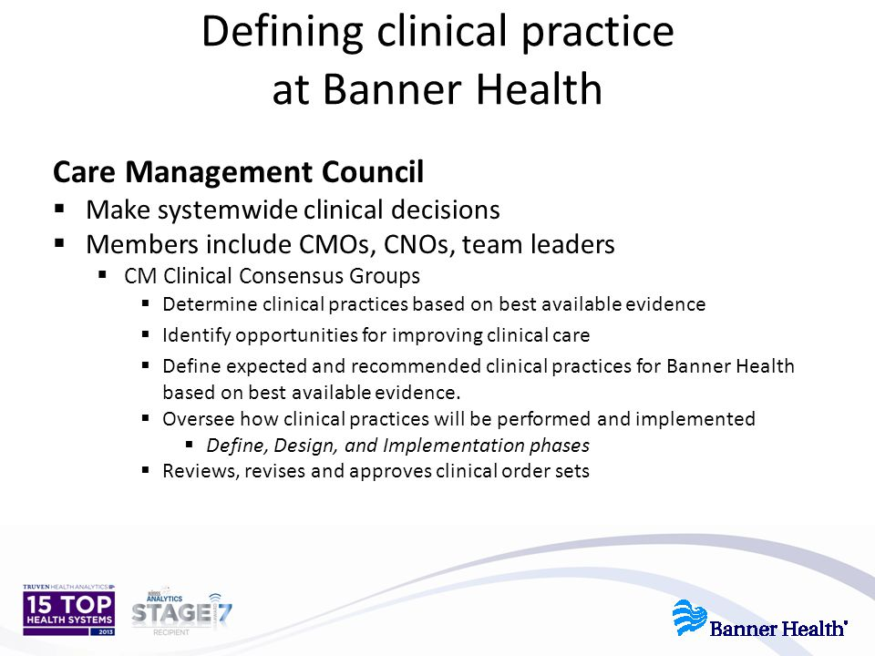 Defining clinical practice at Banner Health