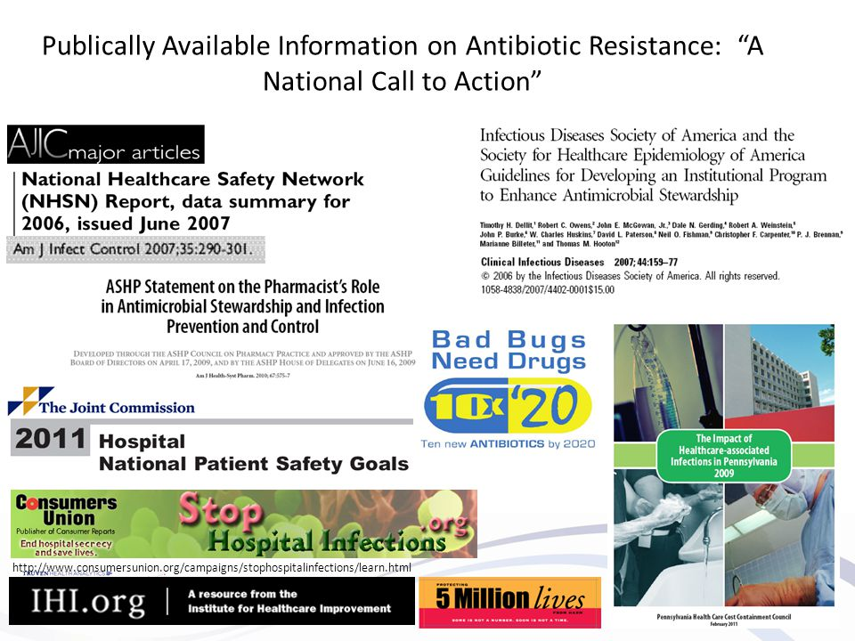 Publically Available Information on Antibiotic Resistance: A National Call to Action