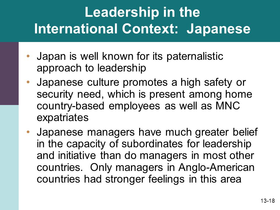 Leadership in the International Context: Japanese