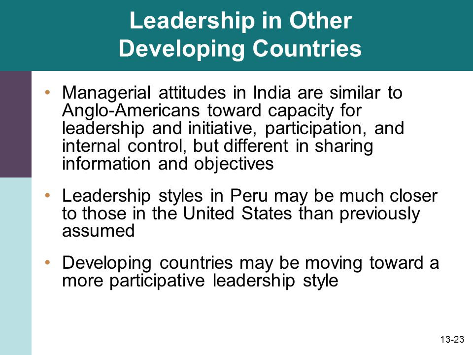 Leadership in Other Developing Countries