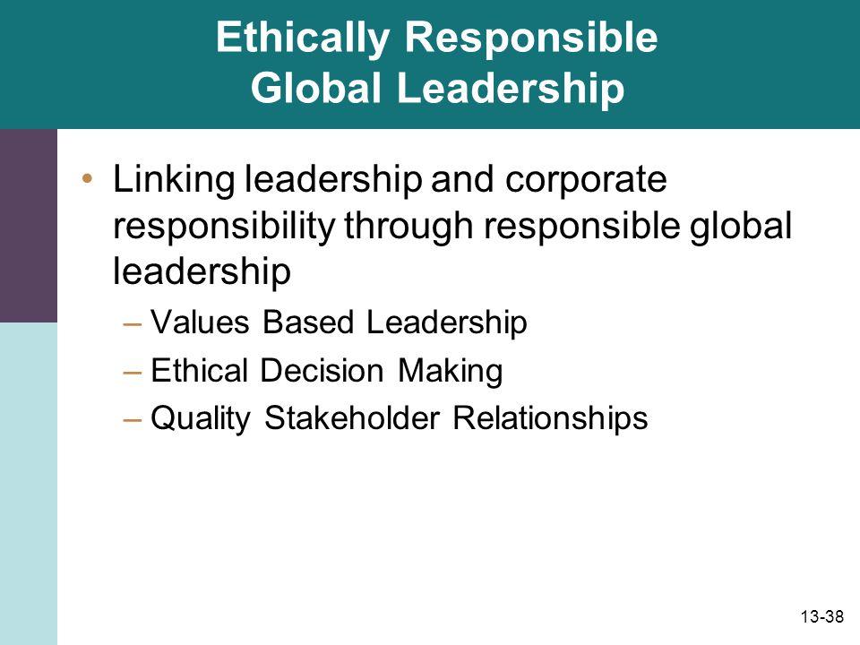 Ethically Responsible Global Leadership
