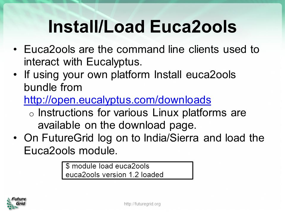 Install/Load Euca2ools