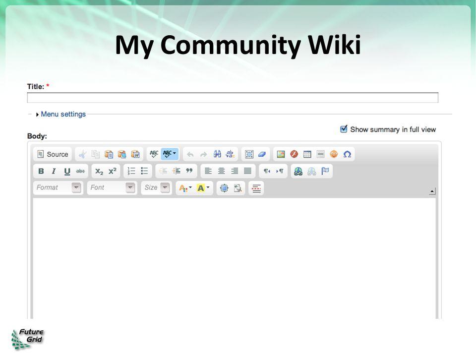 My Community Wiki