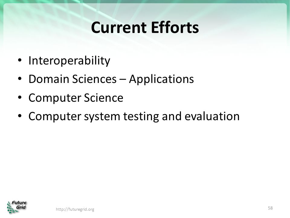 Current Efforts Interoperability Domain Sciences – Applications