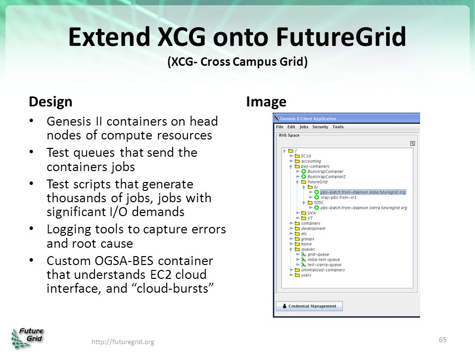Extend XCG onto FutureGrid (XCG- Cross Campus Grid)