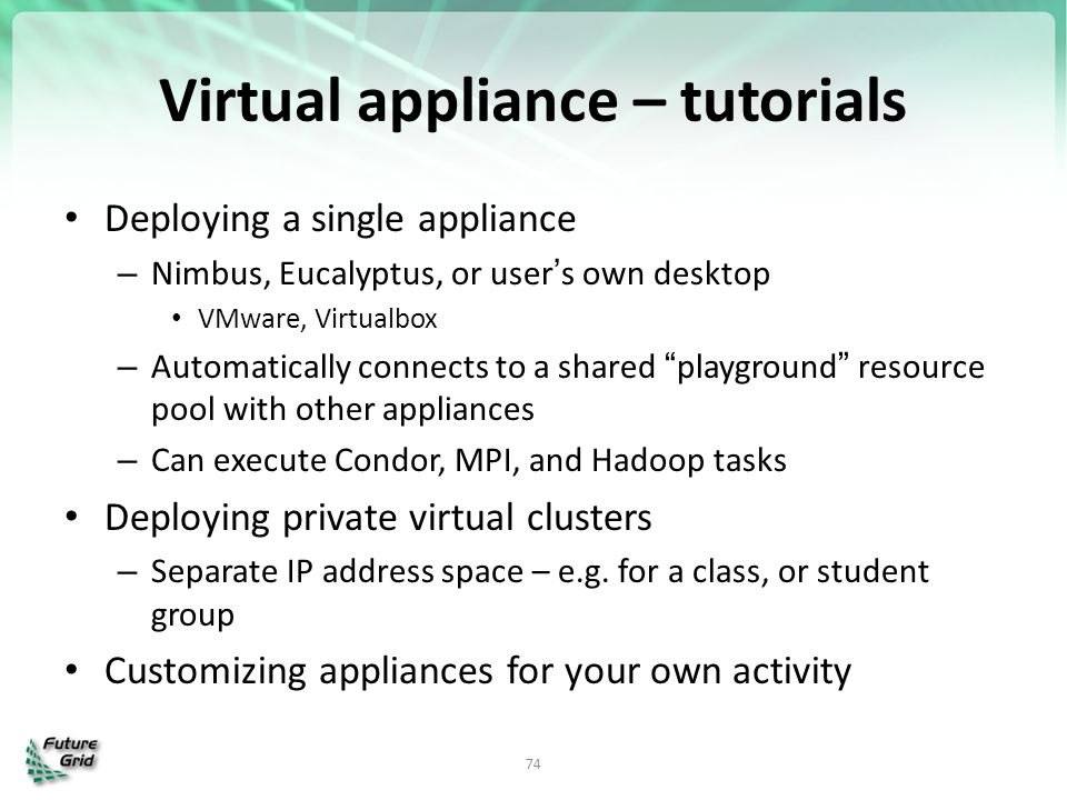 Virtual appliance – tutorials