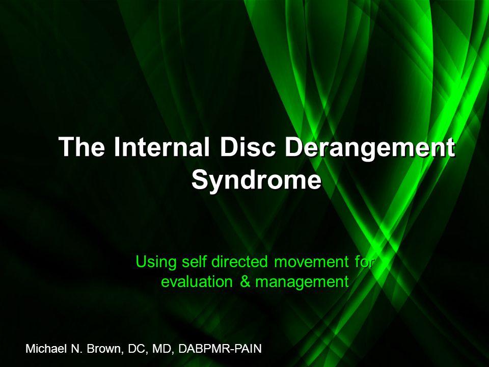 The Internal Disc Derangement Syndrome