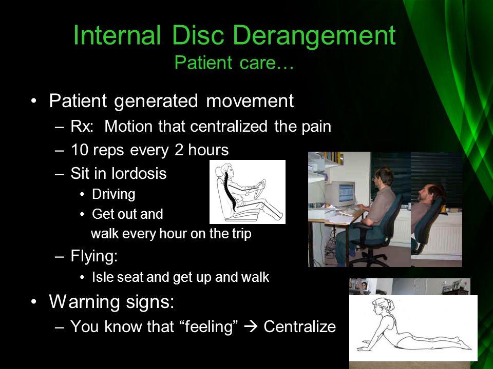 Internal Disc Derangement Patient care…
