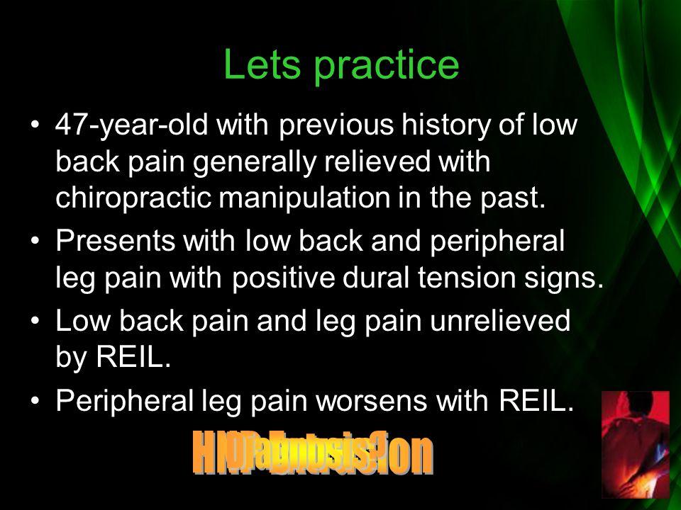 Lets practice HNP Extrusion Diagnosis