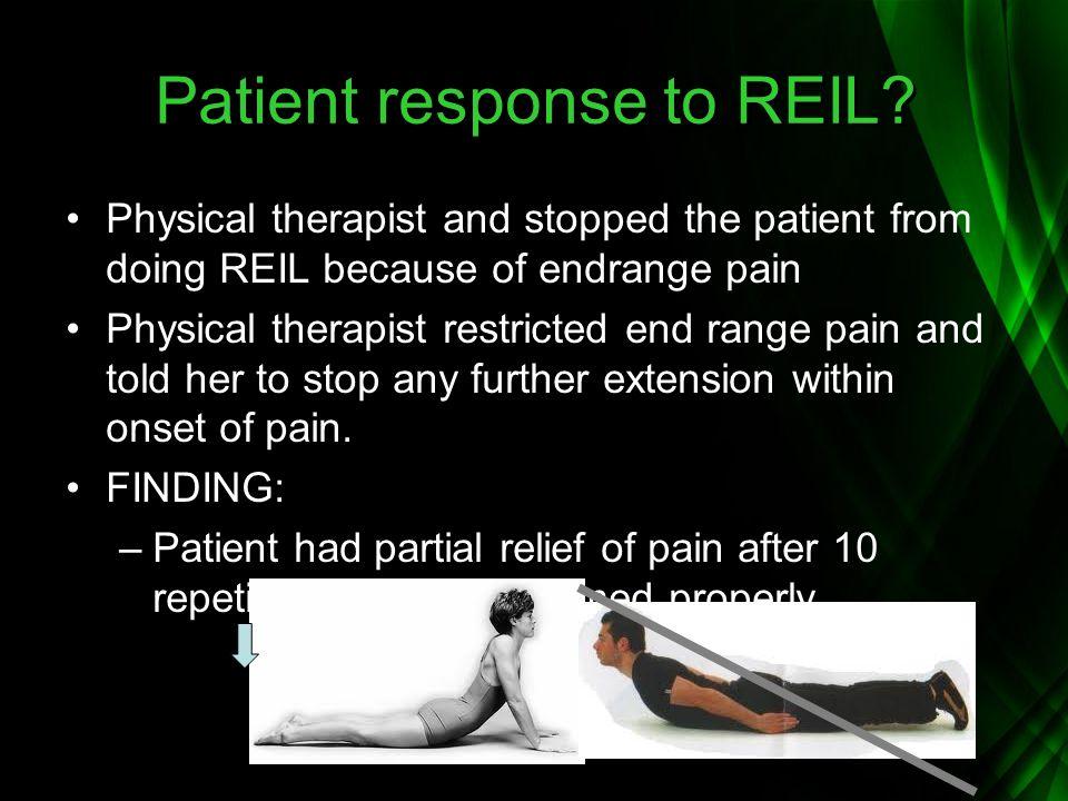 Patient response to REIL