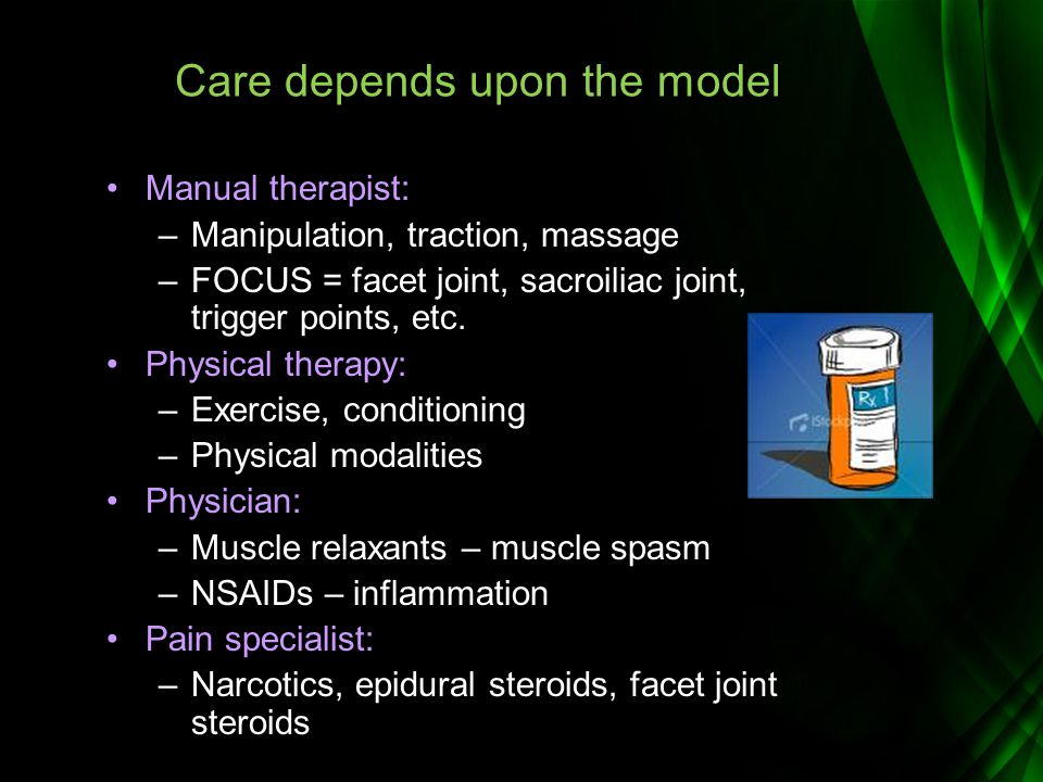 Care depends upon the model