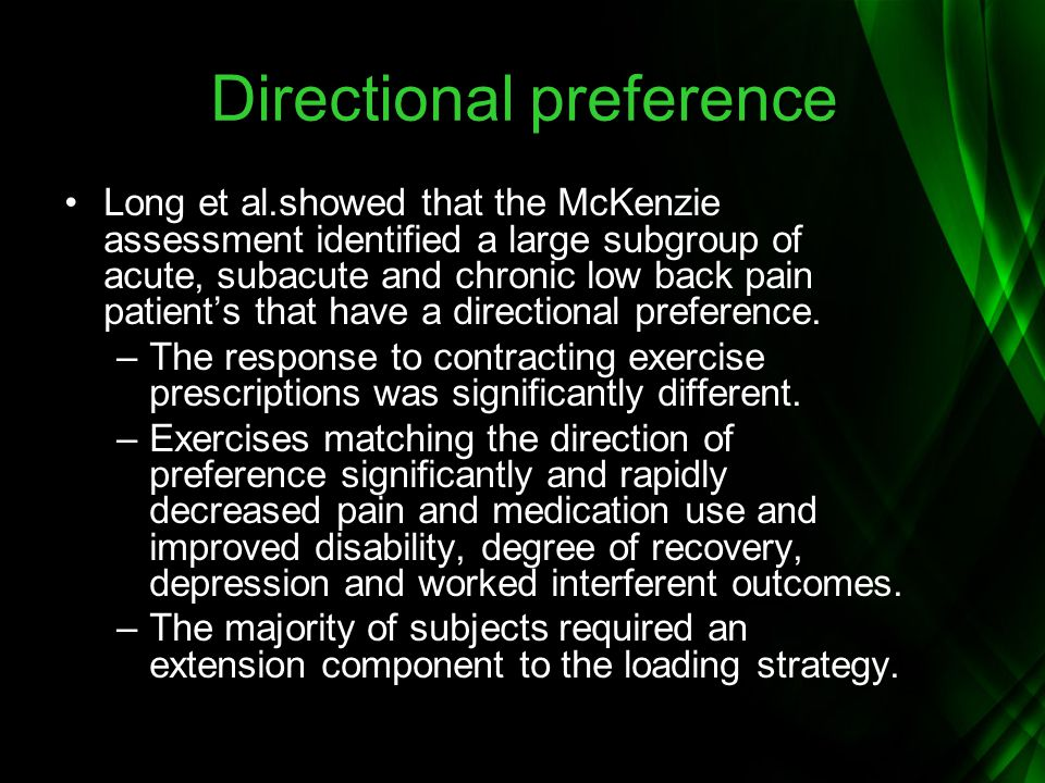 Directional preference