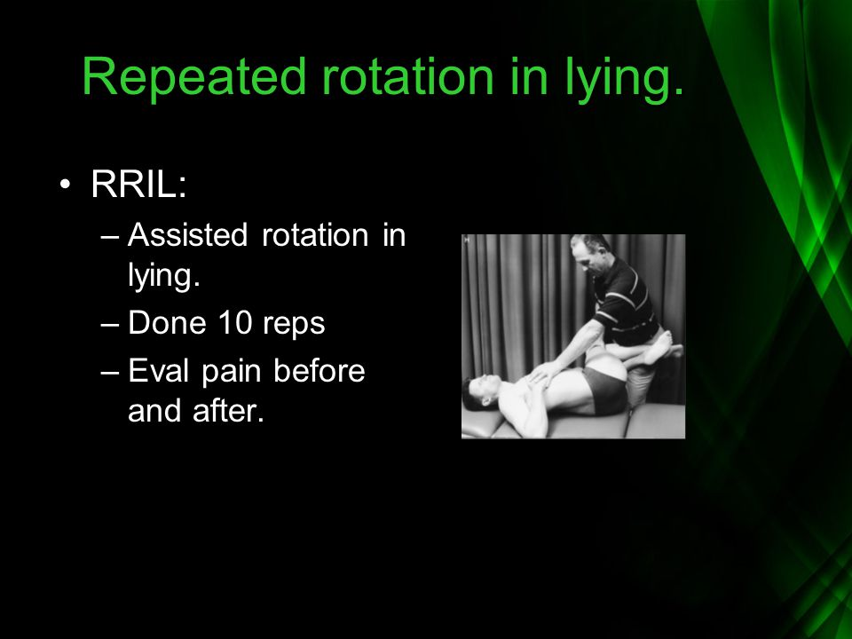 Repeated rotation in lying.