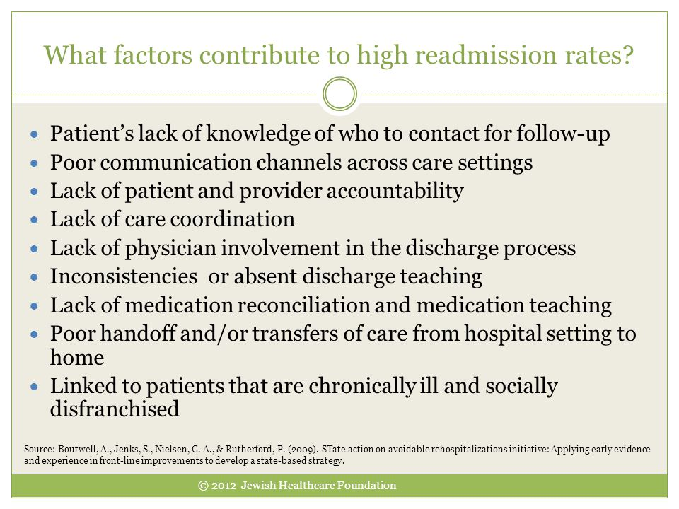 What factors contribute to high readmission rates