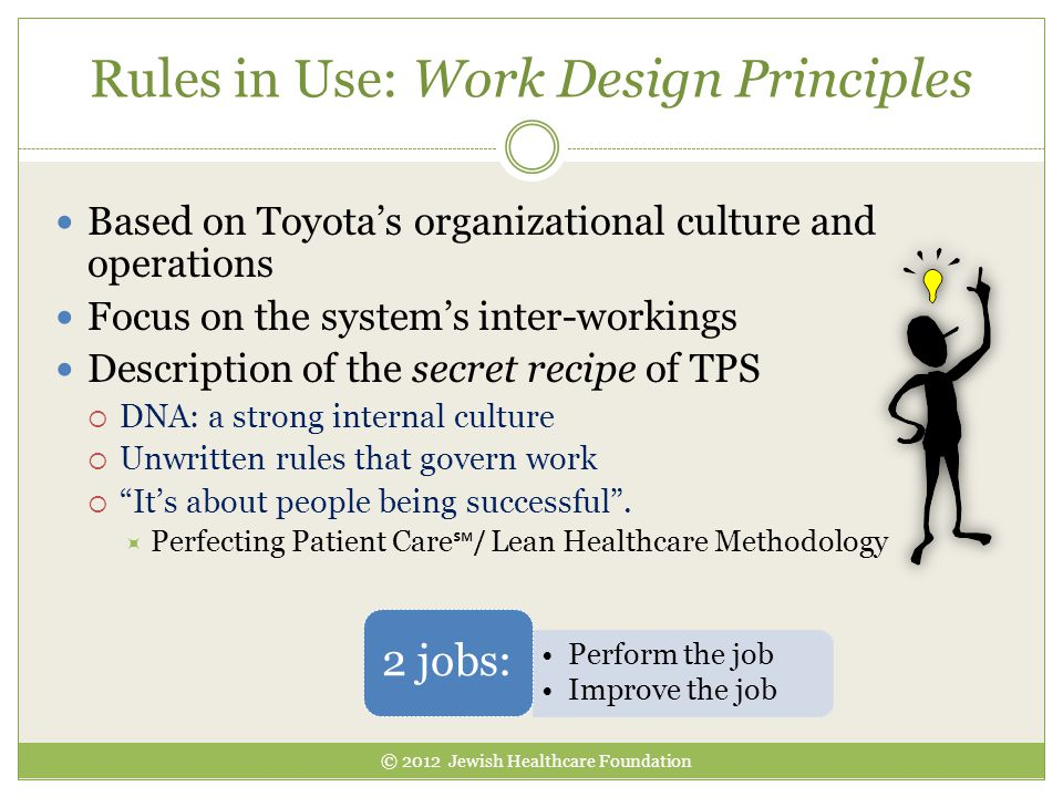 Rules in Use: Work Design Principles