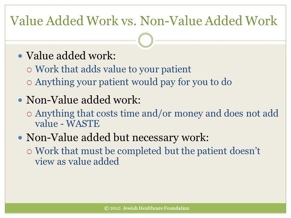 Value Added Work vs. Non-Value Added Work