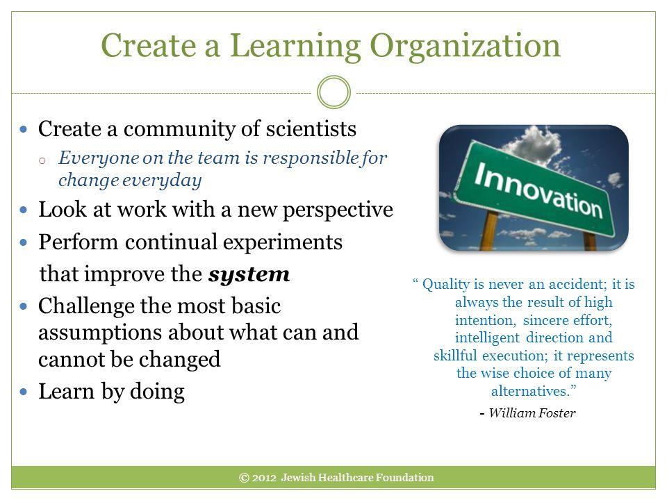 Create a Learning Organization