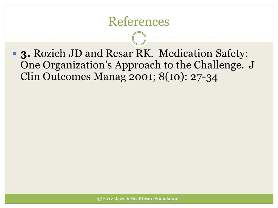 © 2012 Jewish Healthcare Foundation