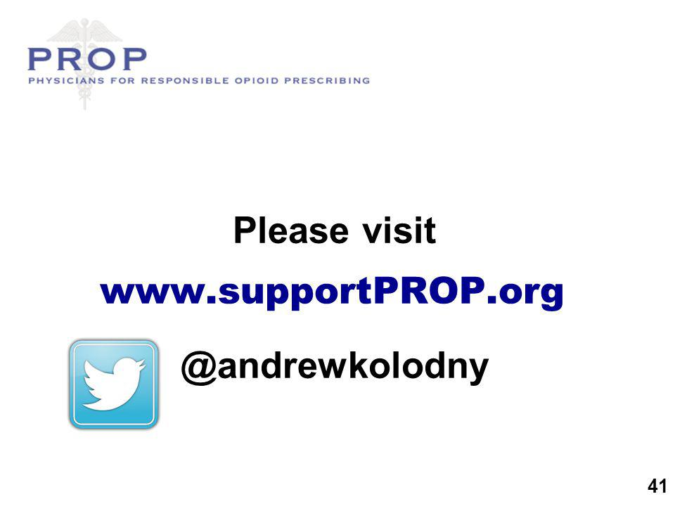 Please visit www.supportPROP.org @andrewkolodny