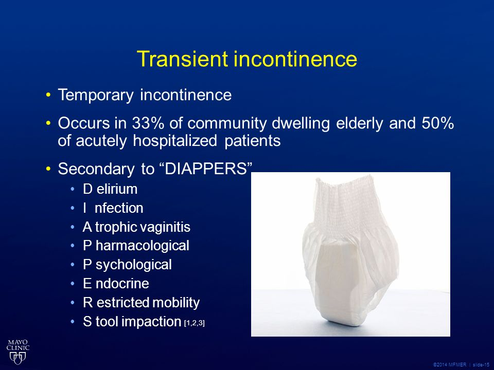 Transient incontinence