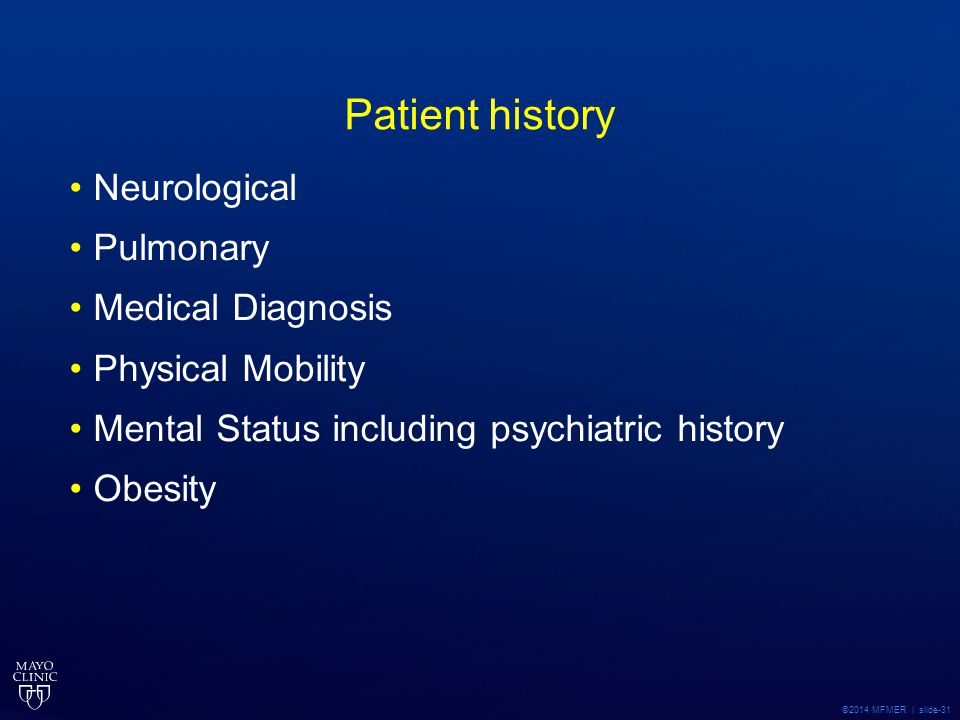 Patient history Neurological Pulmonary Medical Diagnosis