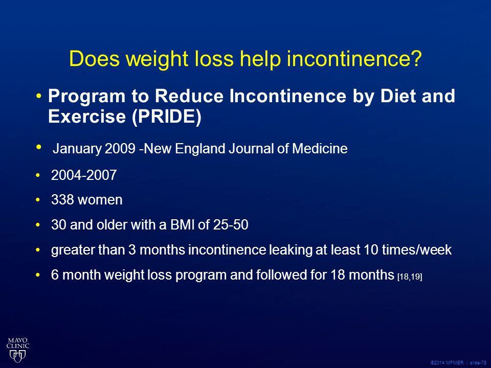 Does weight loss help incontinence
