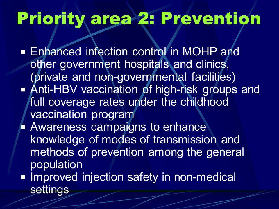 Priority area 2: Prevention