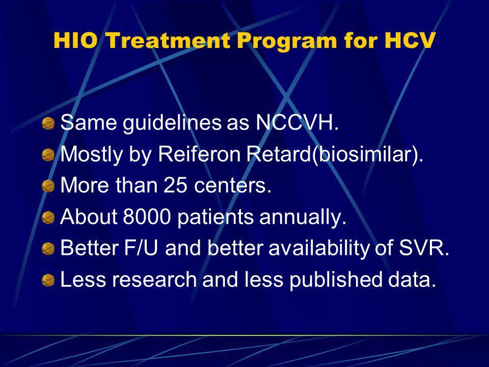 HIO Treatment Program for HCV