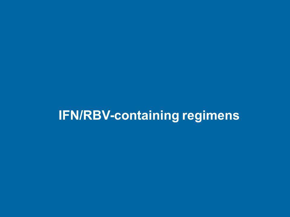 IFN/RBV-containing regimens