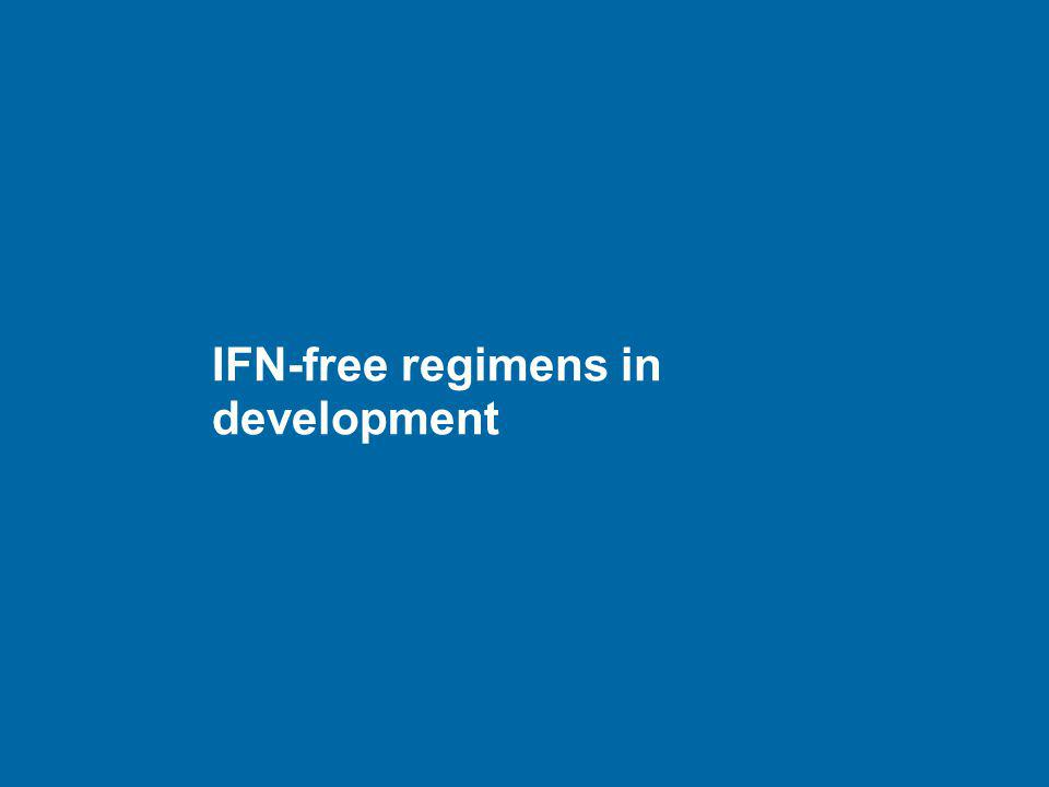 IFN-free regimens in development