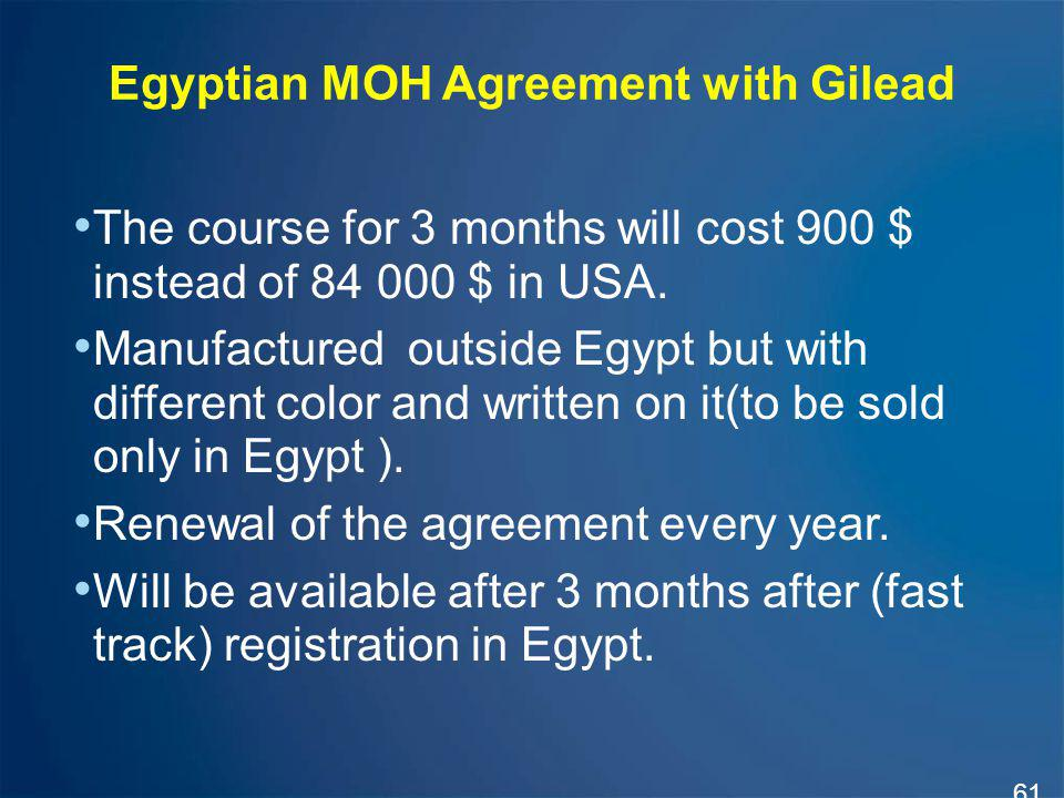 Egyptian MOH Agreement with Gilead