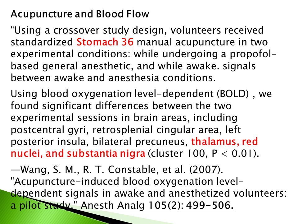 Acupuncture and Blood Flow