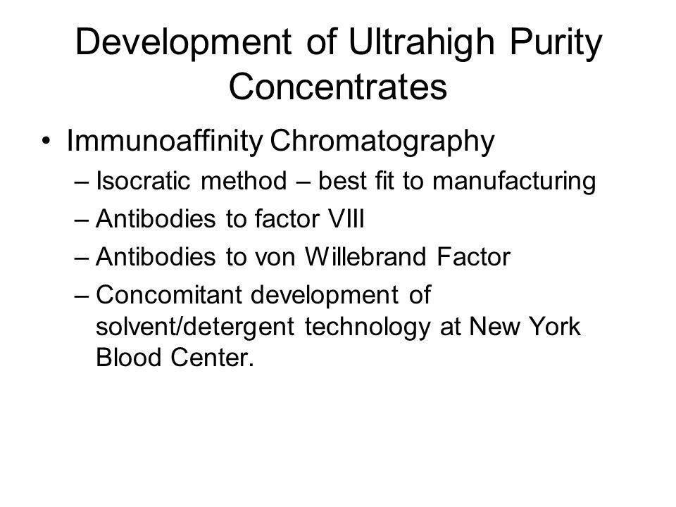 Development of Ultrahigh Purity Concentrates