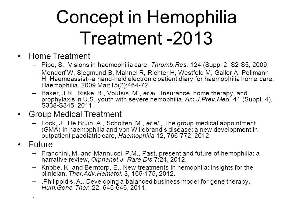 Concept in Hemophilia Treatment -2013