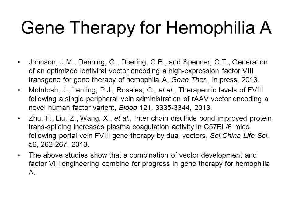 Gene Therapy for Hemophilia A