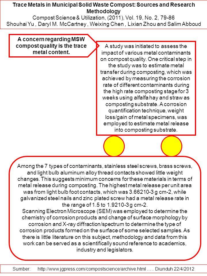 Compost Science & Utilization, (2011), Vol. 19, No. 2, 79-86
