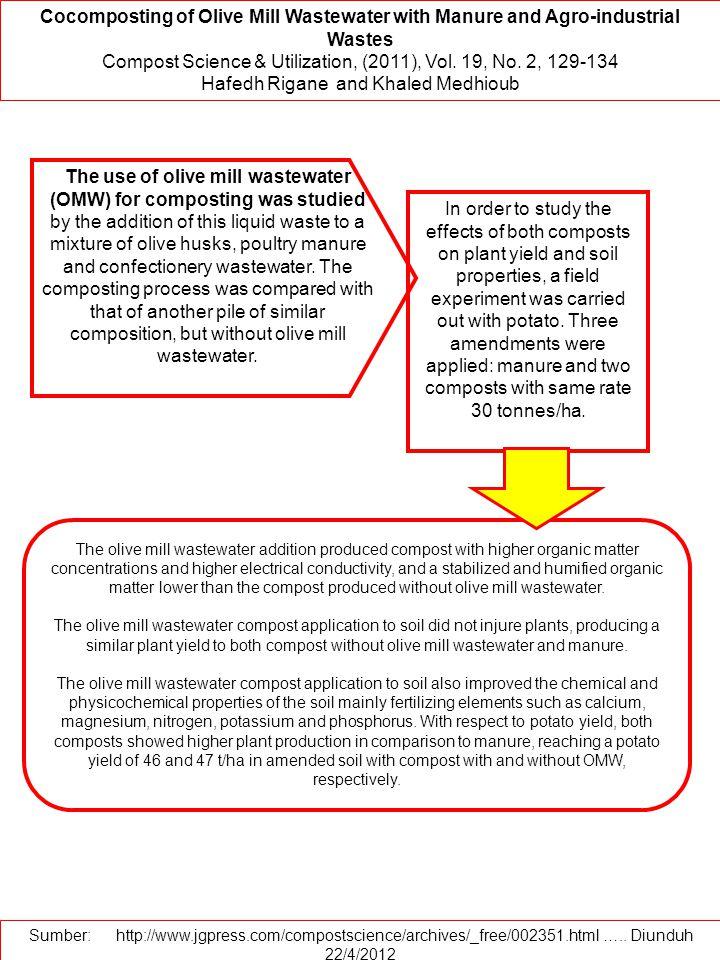 Compost Science & Utilization, (2011), Vol. 19, No. 2, 129-134
