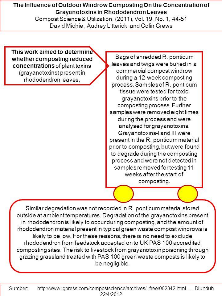 Compost Science & Utilization, (2011), Vol. 19, No. 1, 44-51