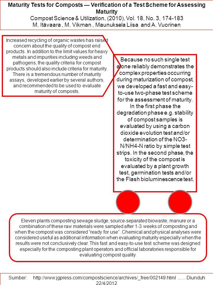 Compost Science & Utilization, (2010), Vol. 18, No. 3, 174-183