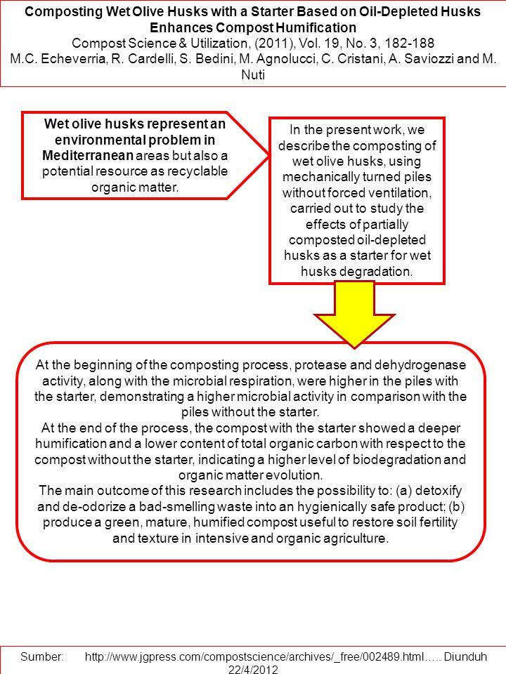 Compost Science & Utilization, (2011), Vol. 19, No. 3, 182-188