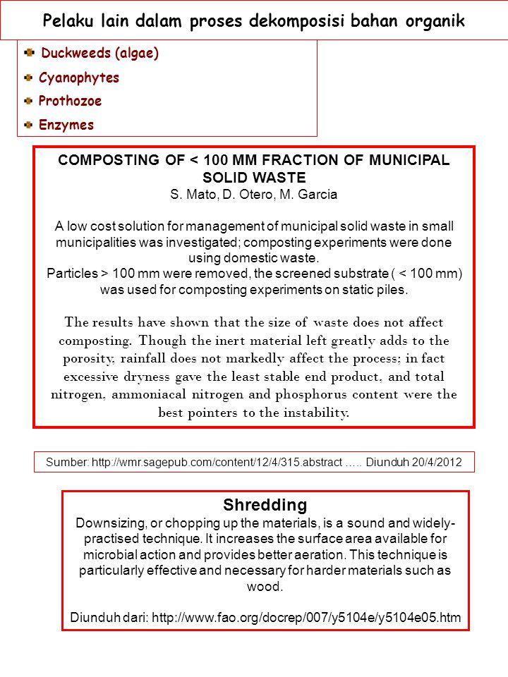 Pelaku lain dalam proses dekomposisi bahan organik