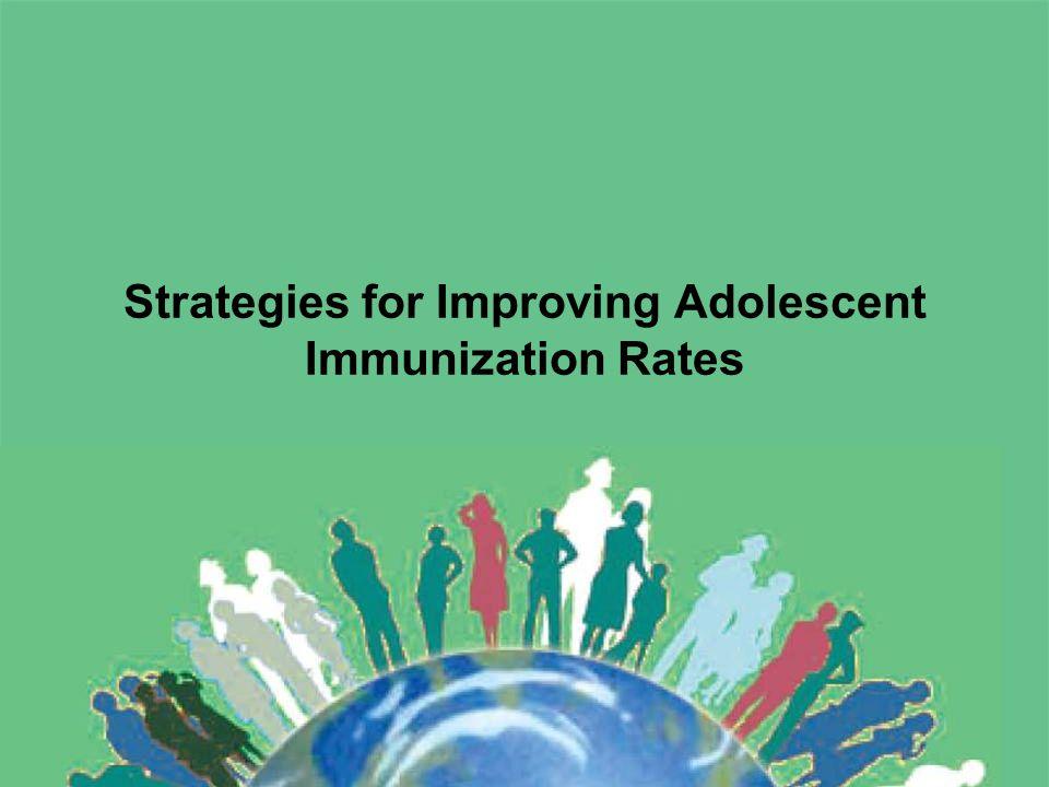 Strategies for Improving Adolescent Immunization Rates