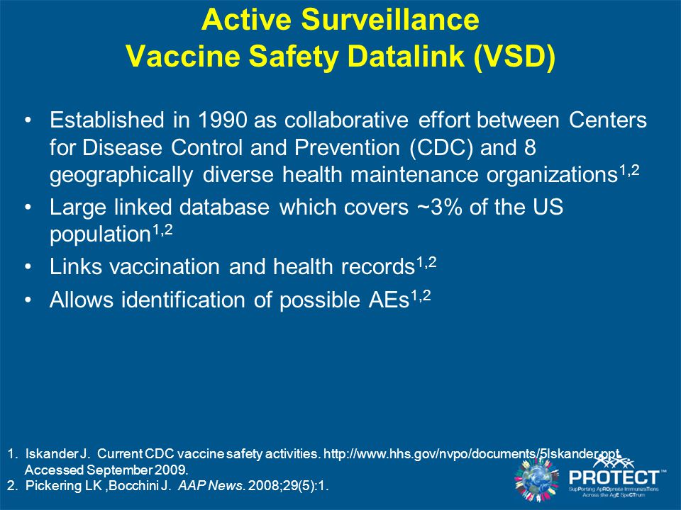 Active Surveillance Vaccine Safety Datalink (VSD)