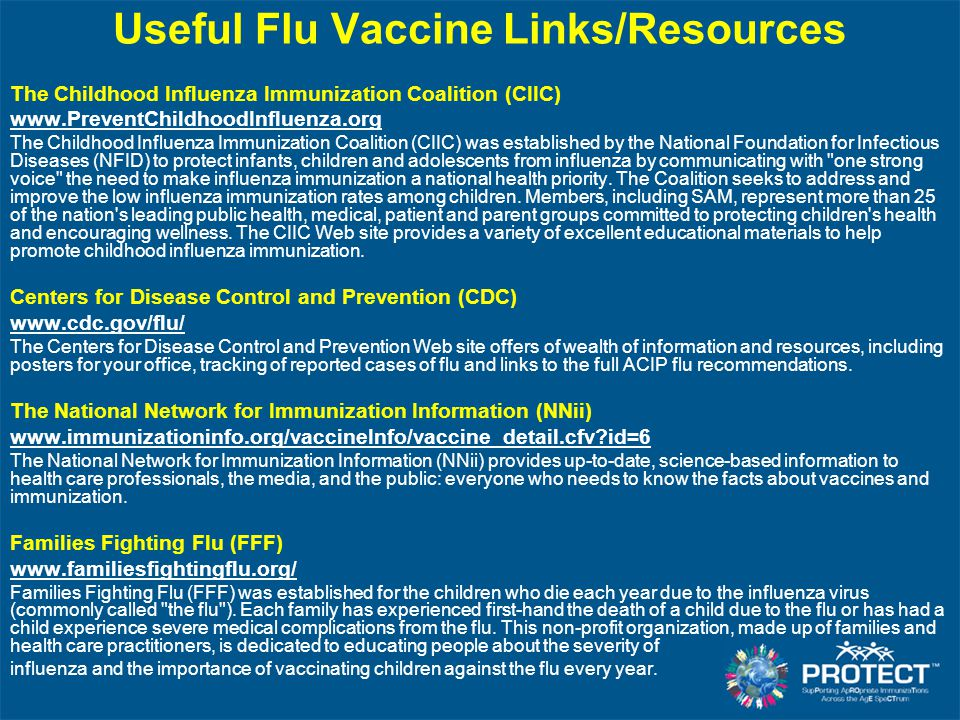 Useful Flu Vaccine Links/Resources