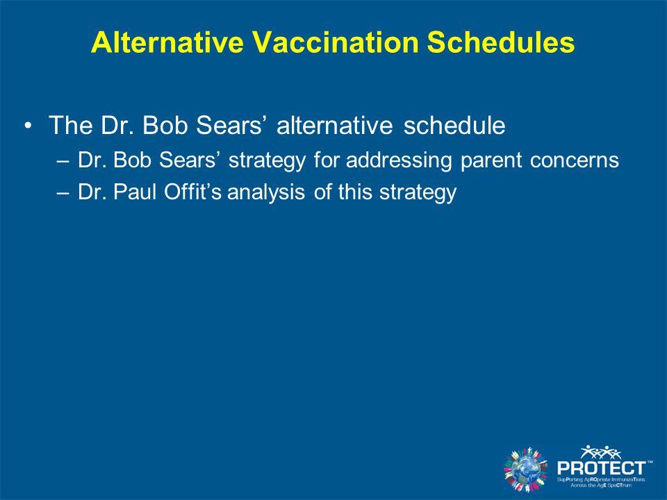 Alternative Vaccination Schedules