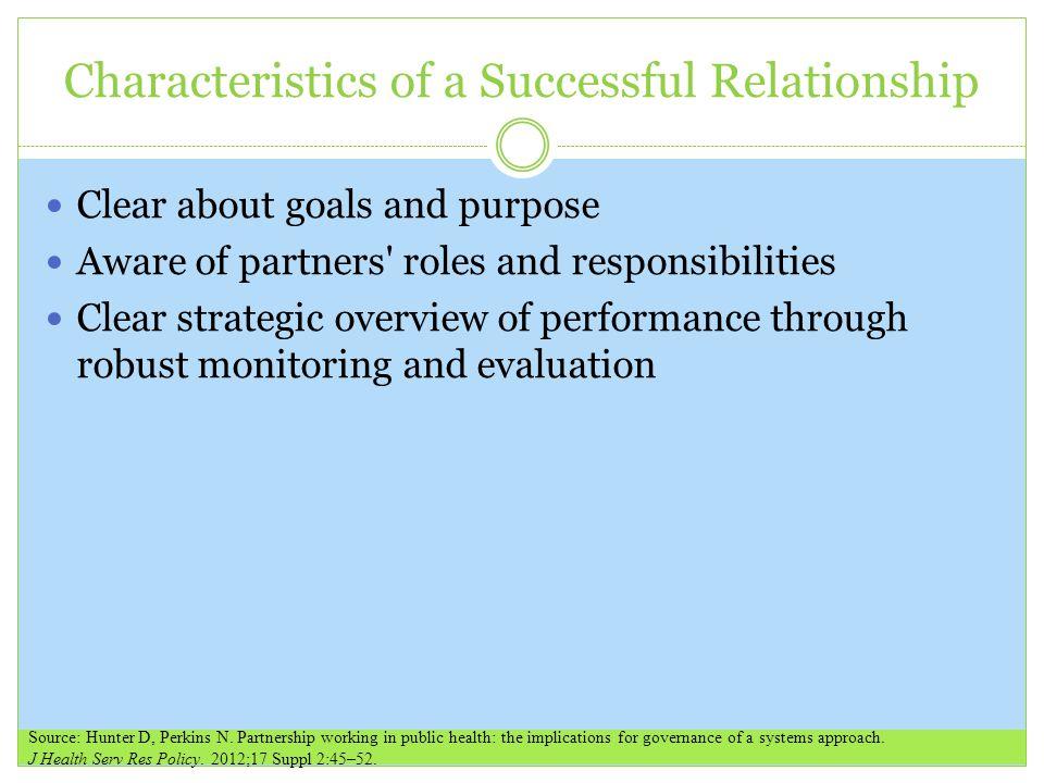 Characteristics of a Successful Relationship