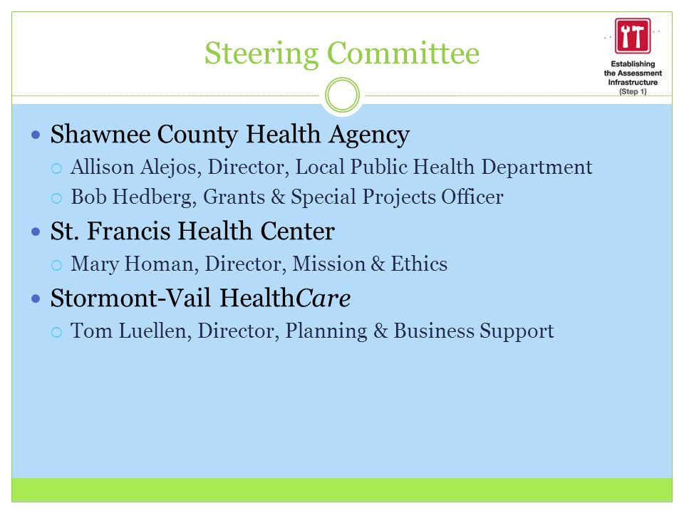 Steering Committee Shawnee County Health Agency
