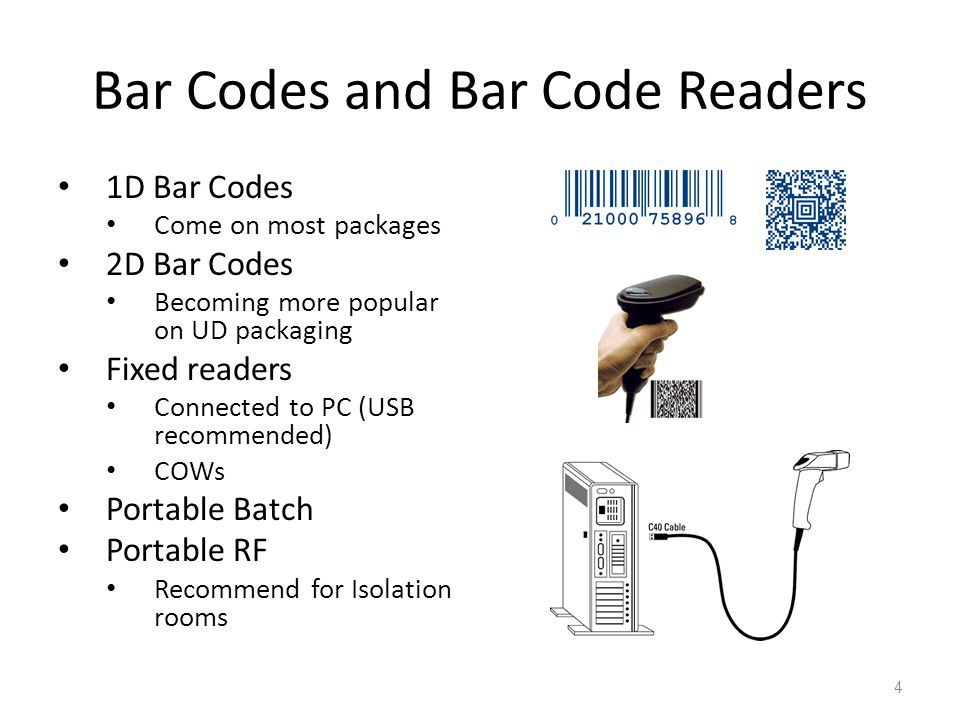 Bar Codes and Bar Code Readers