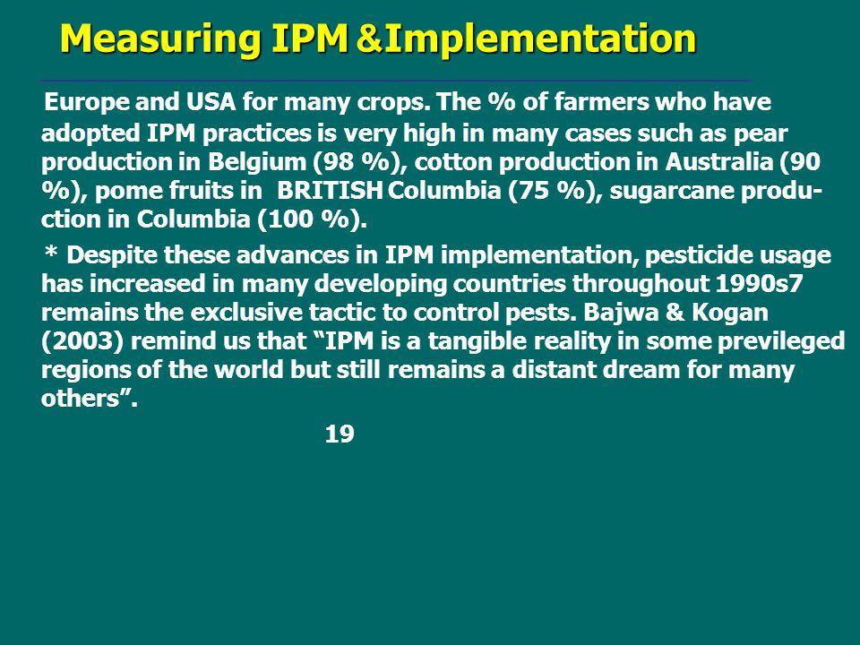 Implementation& Measuring IPM