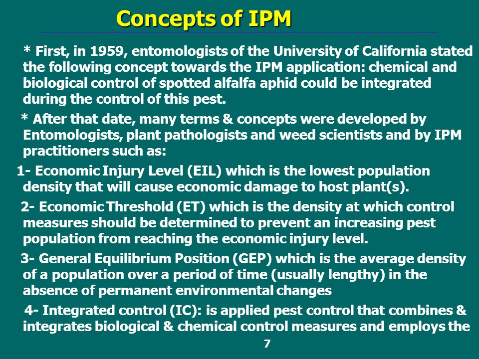 Concepts of IPM